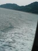 薄曇りの瀬戸内海