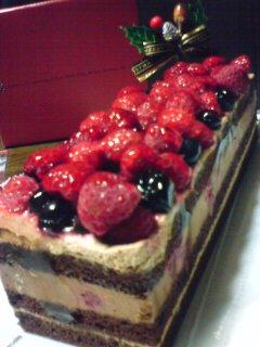 今年のケーキは大人っぽく。。