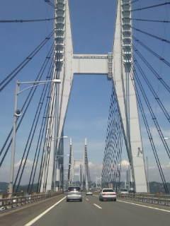 瀬戸大橋通過しました!