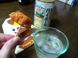 からあげクン(<br />  チーズ)とトリハイジンジャー缶♪